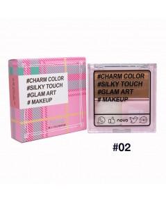 novo Lazy Tri-Color cosmetic Disk NO.02 ราคาส่งถูกๆ W.75 รหัส ES52-2