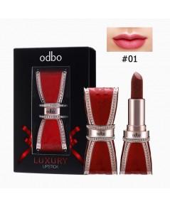 OD574 odbo Luxury Lipstick โอดีบีโอ ลักชัวรี่ ลิปสติก No.01 ราคาส่งถูกๆ W.80 รหัส L28-1