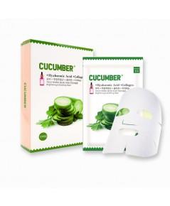 Cucumber+ Mask Hyaluronic Acid Collagen m.meiday (ขายเป็นซอง) ราคาส่งถูกๆ W.45 รหัส S95