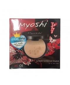 Myoshi ปกปิดพิเศษ ปกปิดเนียน กันน้ำ กันเหงื่อ ไม่เป็นคราบ No.01 w.85 รหัส MP618
