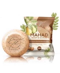 Mahad soapscrub สบู่มะหาด ผิวนุ่ม ขี้ไคลกระเจิง 80 กรัม (1ก้อน) W.110 รหัส.SP195