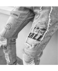 กางเกงยีนส์รุ่น Alien Pattern Jean