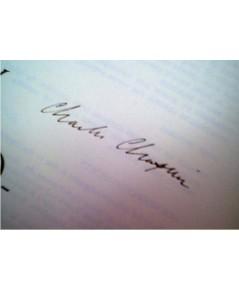 รายเซ็น CHARLIE CHAPLIN : Book MY AUTOBIOGRAPHY 1964 Book Signed Autograph Photos