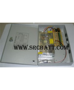 CCTV Power Supply สำหรับกล้องวงจรปิด และอื่นๆ 24V/10A (9 ช่อง)