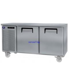 ตู้แช่เคาน์เตอร์สแตนเลส ยี่ห้อ Sanden Intercool รุ่น SCR2-1507AR (425 ลิตร) แช่เย็น