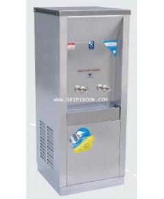 ตู้ทำน้ำเย็น แบบ ต่อท่อประปา MAXCOOL แม็คคูล รุ่น MC-2P 2หัว (ก๊อกตุ๊กตา) ระบายความร้อนแบบแผงรังผึ้ง