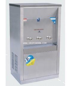 ตู้น้ำเย็น แบบ ต่อท่อประปา MAXCOOL แม็คคูล รุ่น MC-3P  3 หัว (ก๊อกตุ๊กตา) ระบายความร้อนแบบแผงรังผึ้ง