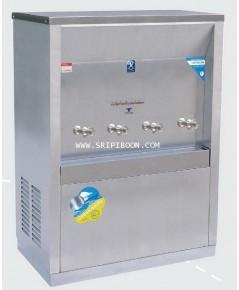 ตู้ทำน้ำเย็น MAXCOOL แม็คคูล รุ่น MC-4P ต่อท่อประปา (ก๊อกตุ๊กตา) 4 หัว ระบายความร้อนแบบแผงรังผึ้ง