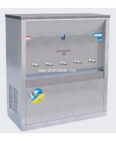 ตู้น้ำเย็น  แบบ ต่อท่อประปา MAXCOOL แม็คคูล รุ่น MC-5P 5 หัว (ก๊อกตุ๊กตา) ระบายความร้อนแบบแผงรังผึ้ง