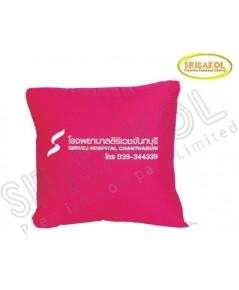 หมอนผ้าห่ม 2 in 1  ผ้าTC+ผ้าร่ม สีบานเย็น รหัส A1848-22J