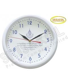 นาฬิกาแขวน 10.2 นิ้ว ขอบสีขาว รหัส A2044-14C