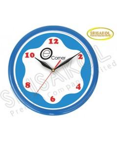 นาฬิกาแขวน 10.2 นิ้ว ขอบสีน้ำเงิน รหัส A1914-12C