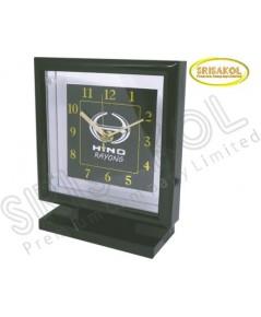 นาฬิกาตั้งโต๊ะ สี่เหลี่ยม รหัส A2042-15C  สีดำ