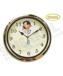 นาฬิกาแขวน 13 นิ้ว ขอบสีทอง รหัส A1913-9C  หน้าปัดรูป ร.๙