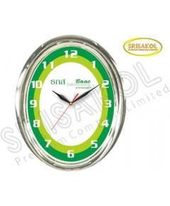 นาฬิกาแขวน รูปไข่ ขอบชุบเงิน รหัส A2044-30C