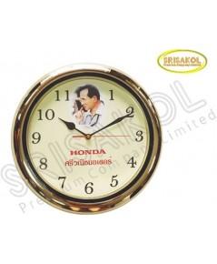 นาฬิกาแขวน 13 นิ้ว ขอบสีทอง รหัส A2045-14C  หน้าปัดรูป ร.๙