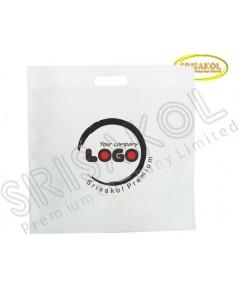 กระเป๋าช็อปปิ้งผ้าสปันบอนด์ สีขาว รหัสสินค้า A2002-1B