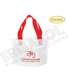 กระเป๋าช็อปปิ้งผ้าสปันบอนด์ สีขาว รหัสสินค้า A2002-3B