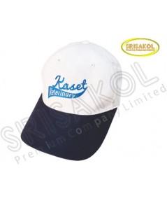 หมวก Cap 6 ชิ้น สีขาว ปีกแซนวิช สีกรมท่า รหัส A2026-2H