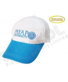 หมวก Cap 6 ชิ้น สีขาว ปีกแซนวิช สีฟ้า  รหัส A2026-4H