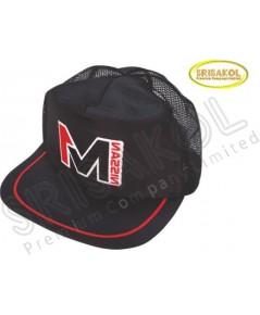 หมวก Cap 5 ชิ้น ผ้าดีวาย+ตาข่าย สีดำ  รหัส A2026-11H