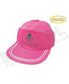 หมวก Cap 5 ชิ้น ผ้าดีวาย สีชมพู รหัส A2026-12H