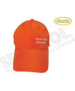 หมวก Cap 6 ชิ้น สีส้ม ปีกแซนวิช  รหัส A2026-14H