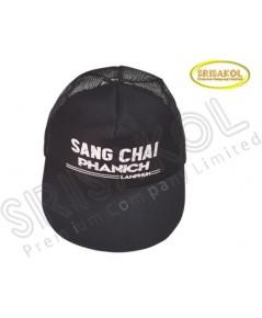 หมวก Cap 5 ชิ้น ผ้าดีวาย+ตาข่าย สีดำ  รหัส A2026-15H
