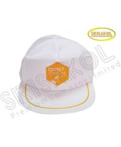 หมวก Cap 5 ชิ้น ผ้าดีวาย+ตาข่าย สีขาว  รหัส A2026-16H