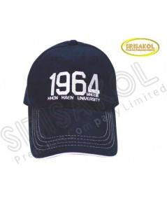 หมวก Cap 6 ชิ้น สีดำ ปีกแซนวิช  รหัส A2026-18H
