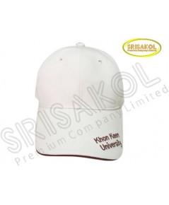 หมวก Cap 6 ชิ้น สีขาว ปีกแซนวิช  รหัส A2026-20H
