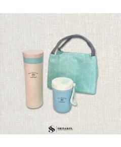 ชุดกระติกน้ำ + แก้วน้ำ ECO + กระเป๋าเก็บความเย็น รหัส A2109-6SJ