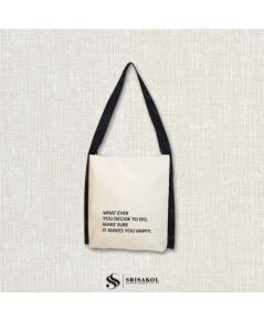 กระเป๋าผ้าแคนวาส รหัส A2130-1B