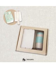 ชุดกล่องข้าว + แก้วน้ำ ECO รหัส 2109-3SJ