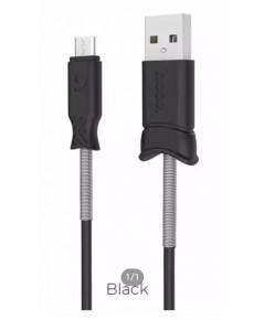 สายชาร์จมือถือ Hoco X24 Pisces Cable สายสีดำ (Sumsung)