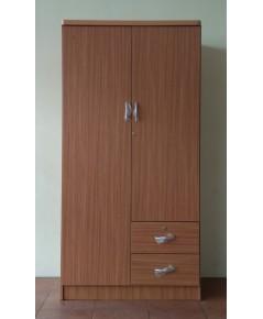 ขายตู้เสื้อผ้าสีไลท์บีช ขนาด 90x52x180 ซ.ม. (มือสอง)