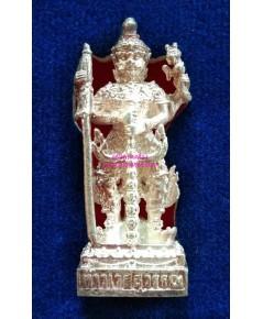 วัดหน้าพระเมรุฯ รูปหล่อลอยองค์ท้าวเวสสุวรรณตรีพระเพลารุ่นแรกเนื้อเงิน