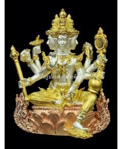 พระพรหมบันดาลโชค เนื้อทองผสมชุบ 3 กษัตริย์ขัดเงา [หมายเลข 138] {ราคา..ลดกระหน่ำ !!}