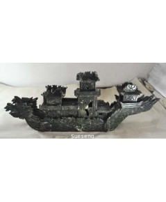 เรือหัวมังกรสีเขียว คล้ายหยก