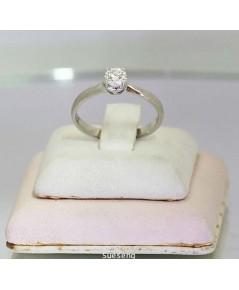 แหวนทองคำขาว ฝังเพชร