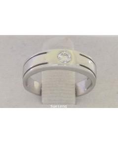 แหวนทองคำขาว 18K