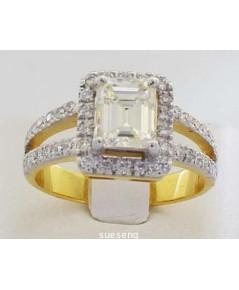 แหวนเพชร ทองคำ 90