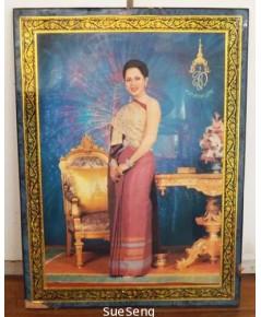 กรอบรูป รูปภาพพระราชินี ร.9