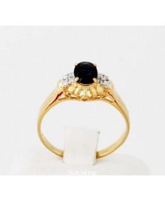 แหวนเพชรหัวไพลิน