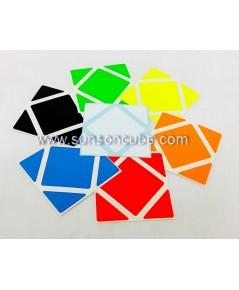 Sticker Skewb  ( Z - Bright )