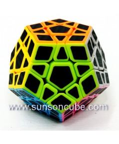 Megaminx with Black Carbon Sticker - Cube Style   / Black