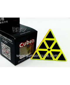 Pyraminx with Black Carbon Sticker - Cube Style   / Black