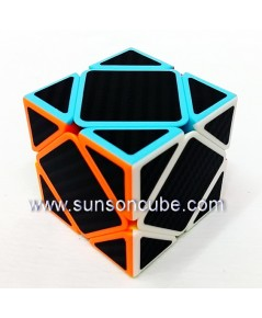Skewb with Black Carbon Sticker - Cube Style   / Black