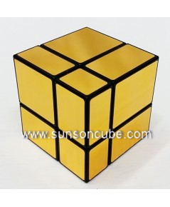 Mirrow Block 2x2x2 - SS   / Black-Gold