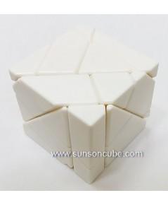 Ghost Cube - White / Silver sticker